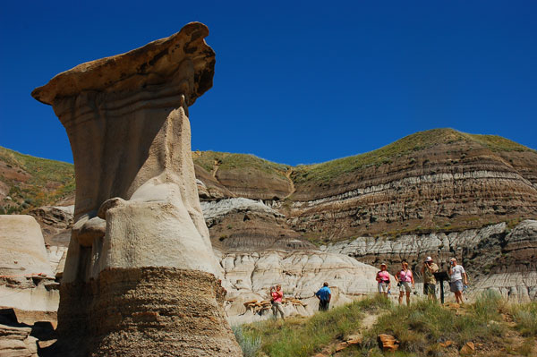Hoodoos and beehive hills near Drumheller, Alberta