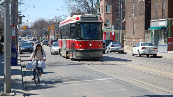 Streetcar in downtown Toronto, Ontario