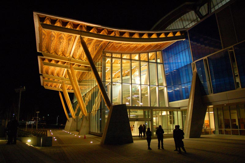Grand entranceway to the Richmond Olympic Oval