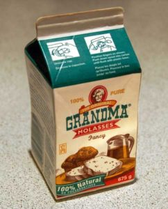 container of Grandma molasses